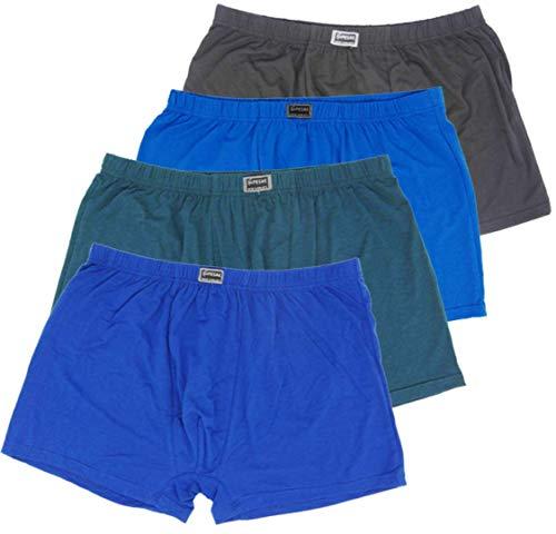Moderei große Größe Pesail Herren Boxershorts Premium-Qualität in Multi Farben(4XL - 7XL) (8, 4XL)