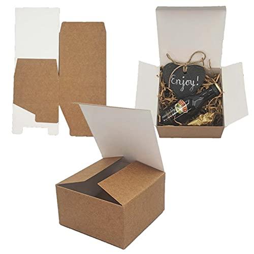 Packung mit 10 x Selbstmontage Geschenkbox (Code#B) Karton Flach Packung Selbstmontage Geschenkbox passend für Schokoladen, Juwelen, Klein Geschenke