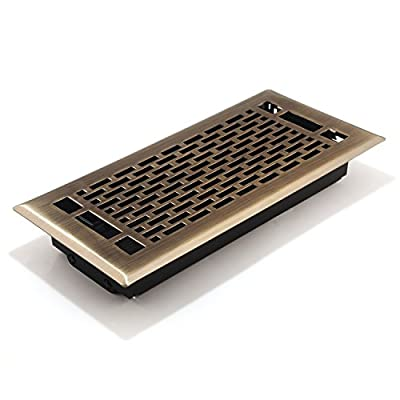 Accord AMFRABMA410 Manhattan Floor Register, 4-Inch x 10-Inch(Duct Opening Measurements)