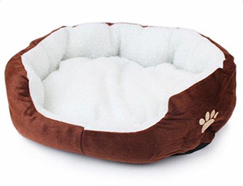WeiMay - Lit rond ou ovale en polaire pour chat ou petit chien.