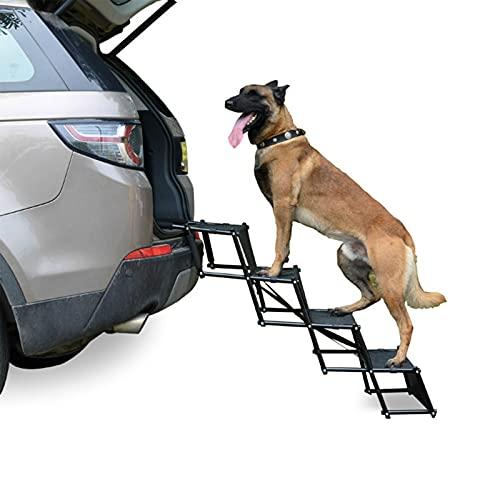 DUTUI Escaleras para Perros Originales De Cuatro Pisos para Proteger Las Articulaciones De La Mascota, Rampa De Escalera Plegable para Mascotas De Acero Inoxidable, Superficie Antideslizante