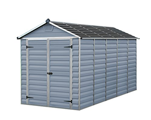 Palram SkyLight Shed 6x12ft Durable Storage – Grey