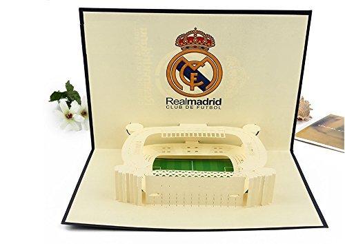 BC Worldwide Ltd 3D Pop-up-Karte Spanisch Real Madrid Fußball Santiago Bernabéu Stadion Geburtstag, Vatertag, Valentines, Weihnachten, Jubiläum, Neujahr Geschenk