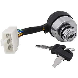 Akozon Cerradura de la puerta eléctrica Cerradura electrica de seis hilos para Generador de gasolina 2.5-6.5KW 188 Llave Interruptor 6 de alambre de encendido de inicio