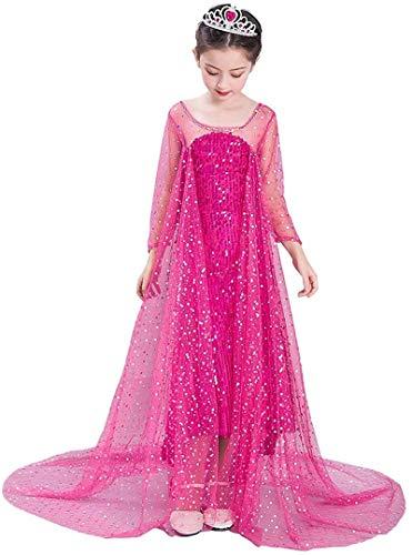 Xyfw Traje De Halloween Vestido De Princesa De Las Muchachas del Traje De Fiesta De Lujo hasta Vestido De Rojo Todo El Tamaño,120