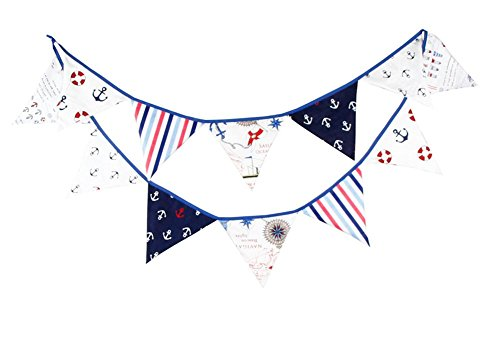 Demarkt - Guirnalda de banderines para bebé, diseño marítimo