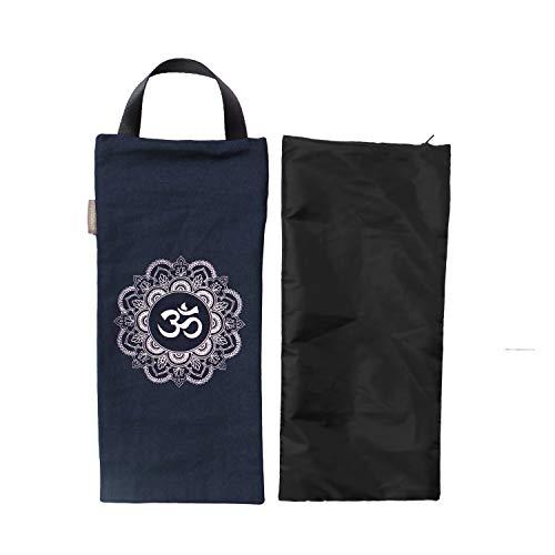 Yoga Sandsack – Baumwolle ungefüllt für Yoga Gewichte und Widerstandstraining, Farbe: Marineblau, Größe: 19,1 x 43,2 cm
