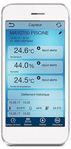 La Crosse Technology - Kit Piscine Connecté MA10700 Mobile Alerts contenant une sonde de température pour piscine et un capteur thermo/hygro