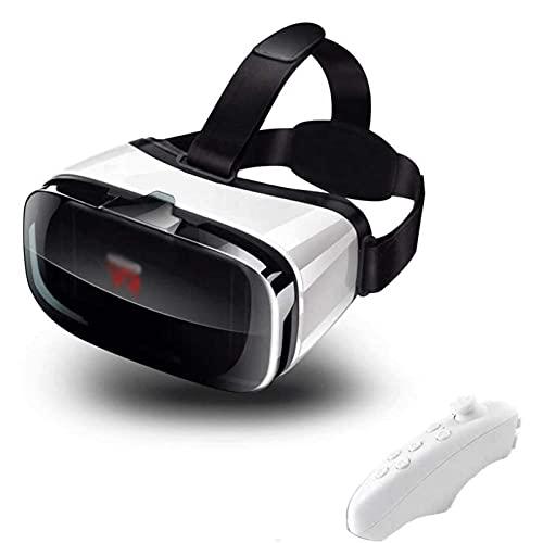 Adesign Auriculares VR, 3D VR Panorámica con Lente Ajustable y Correa cómoda, Gafas de Realidad Virtual para teléfonos Inteligentes de 4,5-6.3 Pulgadas, para Tus Amigos (Color : B)