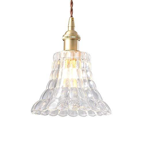 SPNEC Candelabro-Lámpara Colgante Creativa Pantalla de Vidrio Lámpara de Techo de Cobre, luz de Techo for Sala de Estar Dormitorio