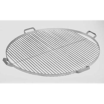 80 cm barbecue rond avec 2 poignées Acier inoxydable
