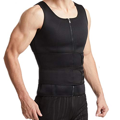 LEYUANA Hombre Adelgazante Adelgazante Adelgazante Control de Barriga Fajas XXXL 2-cinturón-Negro