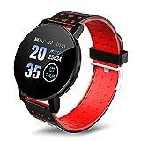 PANYUE Smart Watch-1.44 HD pantalla Fitness Tracker, monitor de frecuencia cardíaca, podómetro, contador de calorías, IP67 impermeable reloj deportivo, para hombres y mujeres