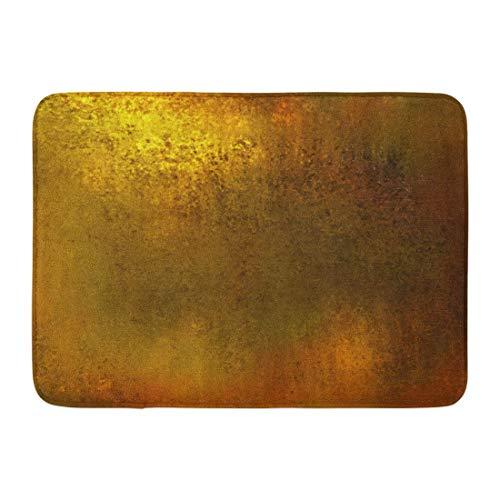 Alfombrillas Alfombras de baño Alfombrilla para exterior / interior Dorado Abstracto Amarillo Marrón cálido Tono de color Vintage Tierra terrosa Pátina Bronce Latón Baño Decoración Alfombra Alfombra