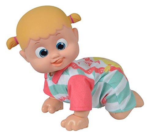 Simba 105143250 - Bouncin Babies Bonny kommt zu Mama / Interaktive Puppe / Im bunten Strampler / Reagiert auf die Stimme / Mit Sound und 360 Grad Krabbelfunktion