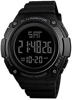 KKmoon SKMEI 1346 Men Analog Digital Watch Fashion Casual Sports Wristwatch 2 Time 5ATM Waterproof Leather Strap Backlight...
