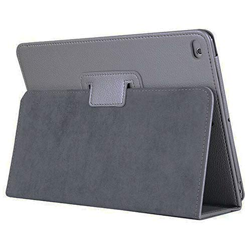 Leather Flip Cover Stand Plain Folio Case for Apple iPad Air 1 2 5th 6th Gen 9.7 (For Apple IPad Air (2nd generation), Grey)