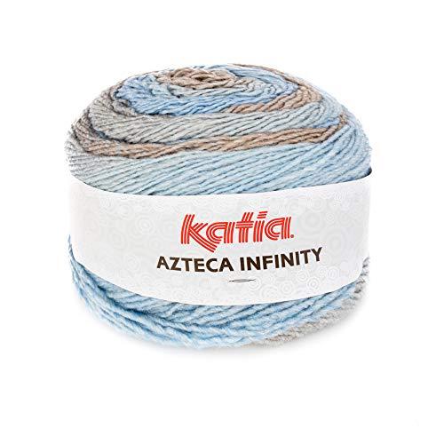 Katia Azteca Infinity – Colore: Aguas/Visones (500) – 150 g/ca. 480 m lana