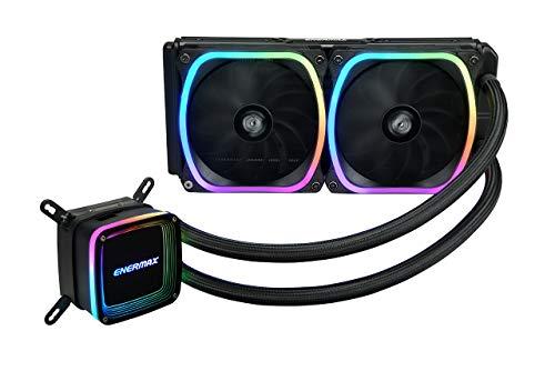 Enermax Aquafusion 240 Addressable RGB AIO CPU Liquid Cooler, AMD AM4/Intel LGA 1200/1151, Dual Chamber Pump, 5V 3-PIN ARGB, 5-Yr Warranty