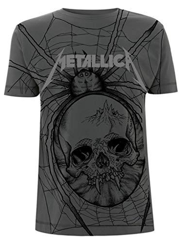Metallica 'Spider' (Gray) T-Shirt, Unisex, S to XL