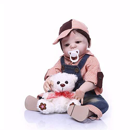 TERABITHIA 22 Pulgadas 55 cm Rare Alive Moderno Estilo Preppy Reborn Baby Dolls Cuerpo Completo Vinilo de Silicona Niño Recién Nacido Muñeca Niños Cumpleaños