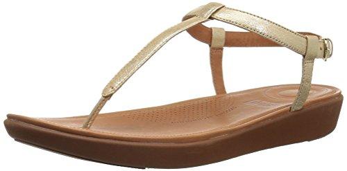 Fitflop Damen Tia Toe-Thong' Peeptoe Sandalen, Gold (Pale Gold 308), 39 EU