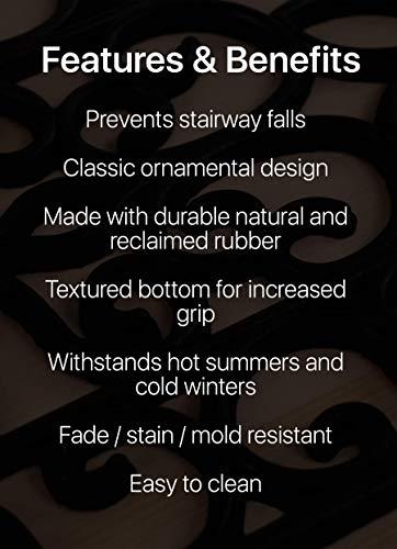 "Rubber Stair Treads Non-Slip Outdoor 35""x10"" (5-Pack) – Anti-Slip Step Mat"