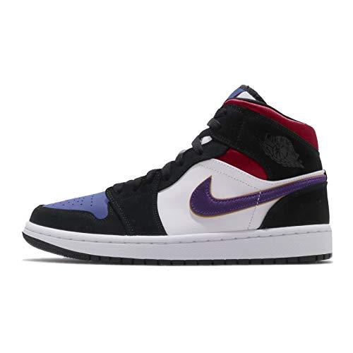 [ナイキ] エアジョーダン 1 ミッド SE AIR JORDAN 1 MID SE 1991 NBA FINALS black/field purple-white 852542-005 スニーカー AJ1 Lakers Top 3 28cm [並行輸入品]