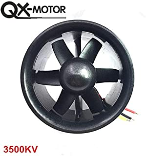 Kamas QX_Motor DIY EDF Ducted Airplane Fan 30mm / 55mm / 64mm / 70mm / 90mm with Brushless Motor - (Color: 70mm 6 Blades 3500KV)