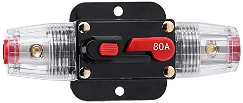 Absolute USA ICB-80 80-AMP AGU Fuse Holder with Built-In Circuit Breaker