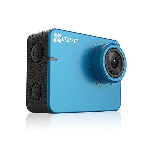 EZVIZ S2 Lite Sport Action Camera, Fotocamera di Azione, Wifi FHD 1080P 60 fps, 8 MP, BLE 4.0, Modalità Guida, Supporto MicroSD fino 256 GB, Blu