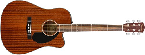 Fender CD-60SCE Electro Acoustic Guitar, All Mahogany
