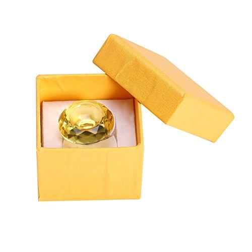 Support de bague de colle adhésif extension de cils, bague de support adhésif adhésif de colle cristal réutilisable Bague de support de palette pour greffe de faux cils(Yellow)