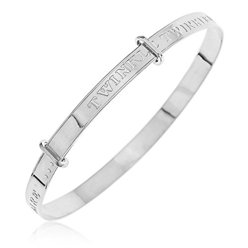 Ornami Sterling Silver Expander Bangle with Message