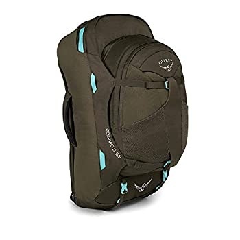 Osprey Fairview 55 Women's Travel Pack with 13L Detachable Daypack - Misty Grey (WS/WM)