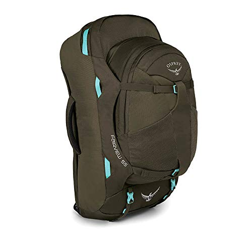 Osprey Packs Fairview 55 Travel Backpack, Misty Gray, Small / Medium