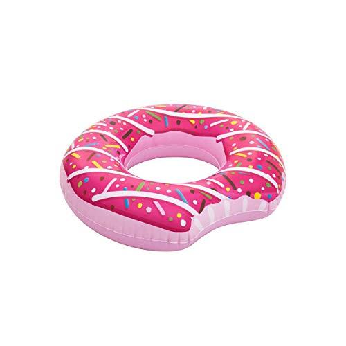 LEMON TREE SL Flotador Donut Mordido diseño Fresa Sprinkles Adulto Medidas 107 cm. Flotador rosquilla para Playa o Piscina Fresa.