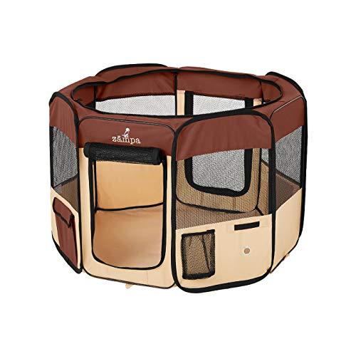 Zampa Portable Foldable Pet playpen Exercise Pen Kennel + Carrying Case