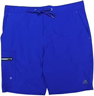 Fleet Street Ltd. Zeroxposur Mens Size Medium Comfort Waistband Swim Shorts, Surf Blue
