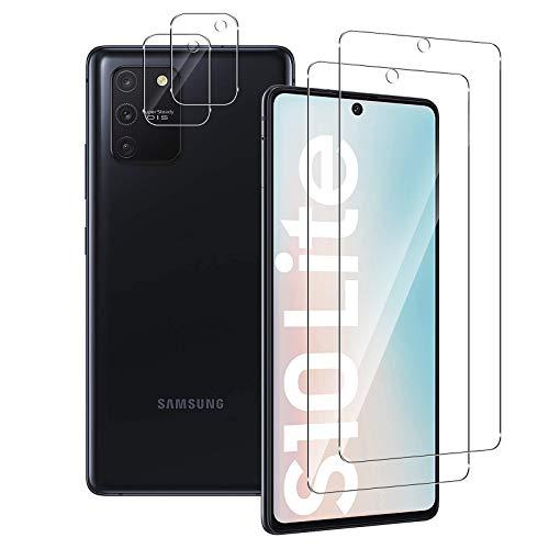 Aerku Schutzfolie Kompatibel mit Samsung Galaxy S10 Lite [2 Stück] + Kamera Bildschirmschutzfolie [2 Stück], 9H HD Anti-Kratzer Folie Ultra Glatte Film Bildschirmschutz-Transparent