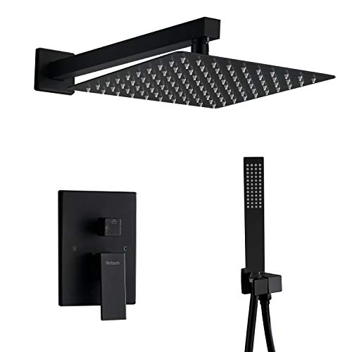 Artbath Wall Mount Shower System,Black Shower...