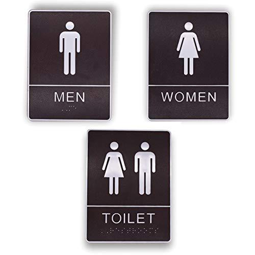 フェリモア トイレ 標識 プレート カフェ 飲食店 バー 案内 ホテル 高級感 男女 3種セット