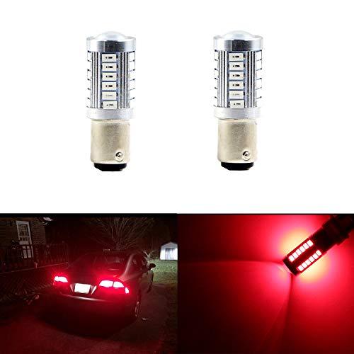1157 BAY15D 1016 1034 1178A 1196 2057 Brake Lights Bulbs 33 SMD Extremely Bright Red LED Bulb 5630 Chips Turn Signal Blinker Lamp Light Bulbs (Set of 2)
