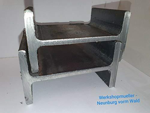 IPE Stahlträger Doppel T S 235JR EN 10034 schwarz roh (IPE 100, 2000 mm)