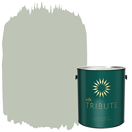 KILZ TRIBUTE Interior Matte Paint and Primer in One, 1 Gallon, Loden Frost (TB-73)