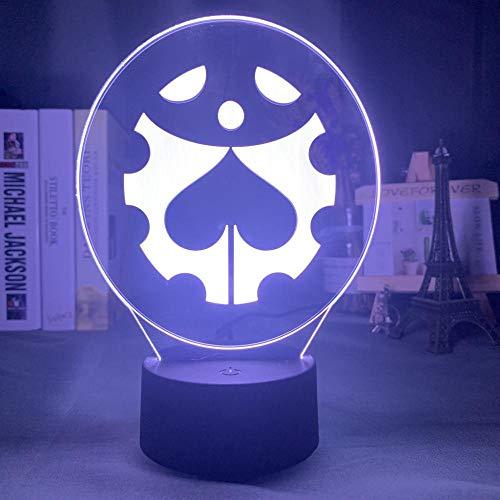 Lámpara de noche acrílica Anime Jojo Bizarre Adventure para decoración de dormitorio Sensor táctil de luz Mesa colorida Luz de noche Led Dio Figure-Dm69_No_Remote
