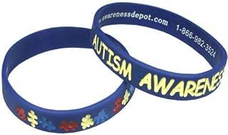 Autism Awareness Puzzle Piece Bracelets Fundraiser 5 Pack Adult Size