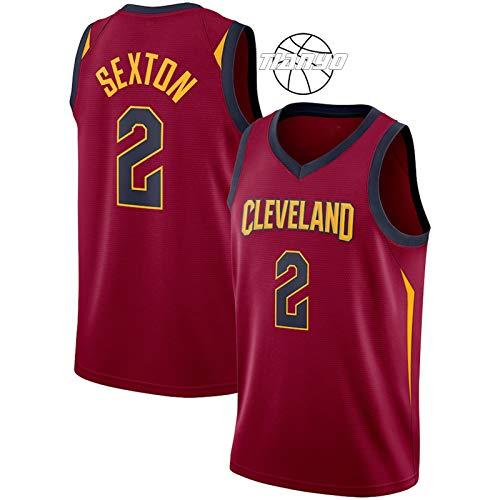 TIANYO Sexton Cavaliers 2# - Camiseta de baloncesto para hombre, transpirable, absorbe el sudor, ropa de hip hop, ropa para fiesta, chaleco de entrenamiento uniforme rojo-XXL
