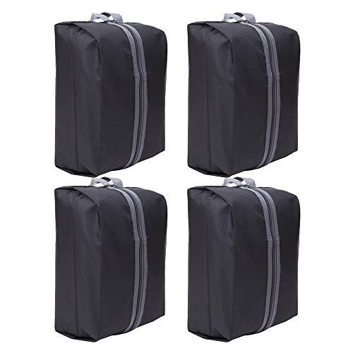Bolsas de zapatos de viaje portátiles a prueba de polvo Organizador impermeable del zapato Ahorro de espacio Bolsas de almacenamiento (4 Pcs)