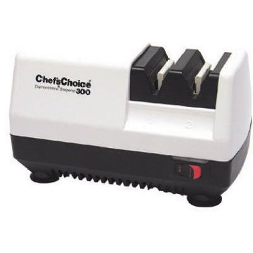 Chef's Choice Chef'sChoice 300 Diamond Hone Knife Sharpener, 2-Stage, White (Discontinued